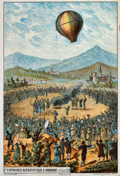 Montgolfier Brothers Hot Air Balloon Test Flight