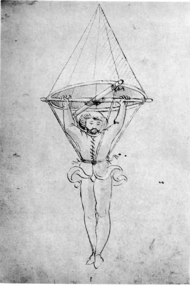 Conical framework parachute