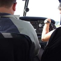 Plane pilots cockpit training Piper warrior    ©  Simon Allardice 2007