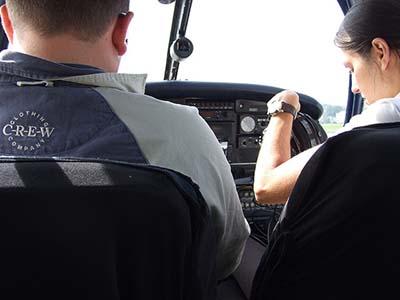 Plane pilots cockpit training Piper warrior    ©  Simon Allardice 2007