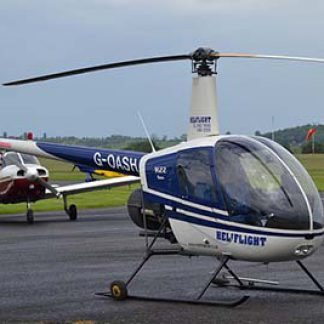 Helicopter R22 airfield © Alec Wilson 2014