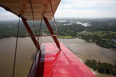 Vintage Tiger Moth Wing view open cockpit © Bert Knottenbeld 2011