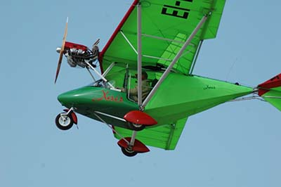 Microlight flying experience voucher © Lee Ciaran 2005