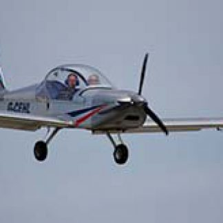 Microlight fixed-wing pilot flying lessons © Stuart Richards 2012