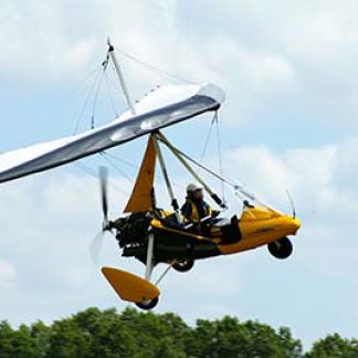 Microlight flying experience © Martin Pettitt 2008