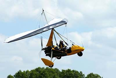 Microlight flying experience © Martin Pettitt 2008