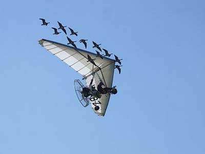 Microlight Flex-wing pilot training © Les Chatfield 2011
