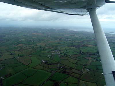 Plane flying lesson aerial landscape © Martin Talbot 2006