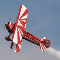Aerobatic Stearman Flying © D Miller 2009