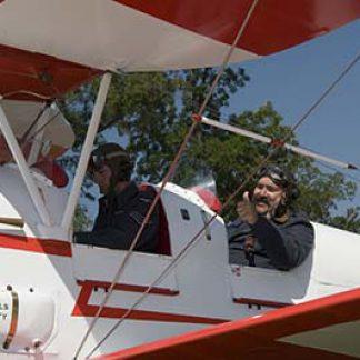 Vintage Tiger Moth flying experience take-off  © D Miller 2006