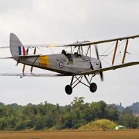 Vintage Tiger Moth classic military biplane flying © Tony Hisgett 2011